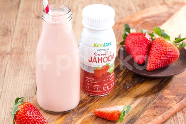 KetoLife Proteinové Smoothie Jahoda (200ml - 1 porce)