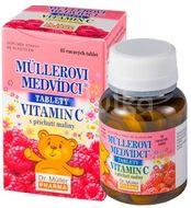 Müllerovi medvídci s vitamín C a příchutí maliny 45 tablet
