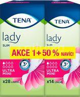 TENA Lady Slim Ultra Mini+50% inkontinenční vložky 42ks