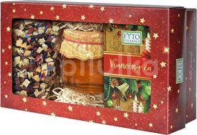 Fytopharma Dárková kazeta Vánoční čaj sypaný + porcovaný + med