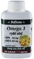 MedPharma Omega 3 rybí olej Forte 67 tobolek
