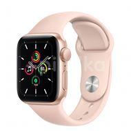 Apple Watch SE GPS, 40mm Gold Aluminium Case, Pink Sand Sport Band, Regular 1ks