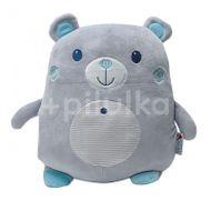 InnoGIO Plyšový polštářek malý Bear Grey/Blue