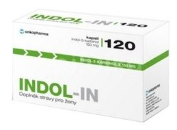 INDOL-IN (cysty HPV myomy bolest prsou) 120 kapslí