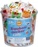 Traubenzucker Lolly lízátka z hroznového cukru 100ks