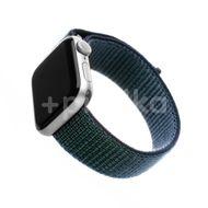 FIXED Nylonový řemínek Nylon Strap pro Apple Watch 44mm/ Watch 42mm, temně modrý 1ks