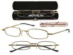 Keen Čtecí brýle +1.00 kovové s kovovým pouzdrem č.925