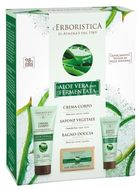 Erboristica Kosmetická sada Tělová péče fermentované aloe vera bio - Tělový krém 200ml + Sprchový gel 100ml + Tuhé mýdlo