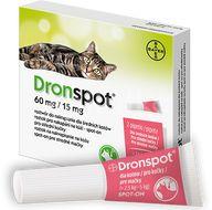 Dronspot 60mg/15mg Střední kočky spot-on 2x 0.7ml