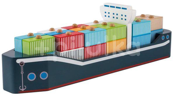 Jouéco Dřevěná kontejnerová loď 12m+