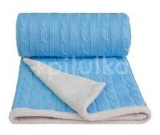 Pletená deka, blue / modrá