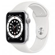 Apple Watch S6 GPS, 44mm Silver Aluminium Case, White Sport Band, Regular 1ks