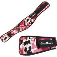 GymBeam Dámsky fitness opasek Pink Camo – velikost S