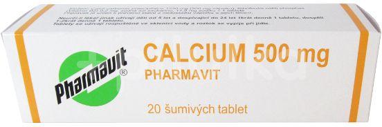 Pharmavit Calcium 500mg 20 šumivých tablet
