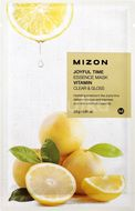 Mizon Joyful Time Essence Mask Vitamin Plátýnková maska s čisticím a osvěžujícím účinkem 23g