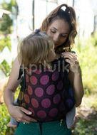 Kinder Hop Rostoucí ergonomické nosítko Multi Grow Dots Rainbow, 100% bavlna, žakár