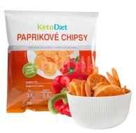 KetoDiet Proteinové chipsy s příchutí papriky 25g/1 porce