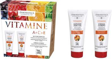 Erboristica Sada tělový krém a sprchový gel s vitaminy 200ml + 200ml