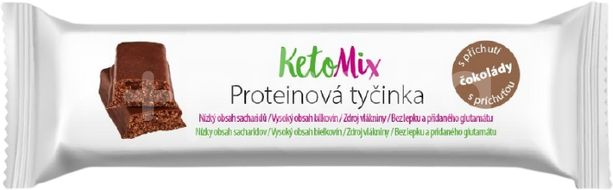 KetoMix proteinové tyčinky s příchutí čokolády 40g