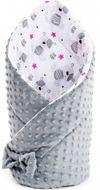 Oboustranná Zavinovačka z Minky New Baby 75x75 cm teddy šedá