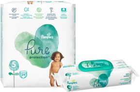 Pampers Pure protection S5 24ks + Pampers ubrousky Aqua Pure 48ks