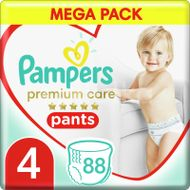 Pampers Premium Pants Plenkové Kalhotky Velikost 4, 88 Kalhotek, 9kg-15kg