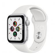 Apple Watch SE GPS, 40mm Silver Aluminium Case, White Sport Band, Regular 1ks