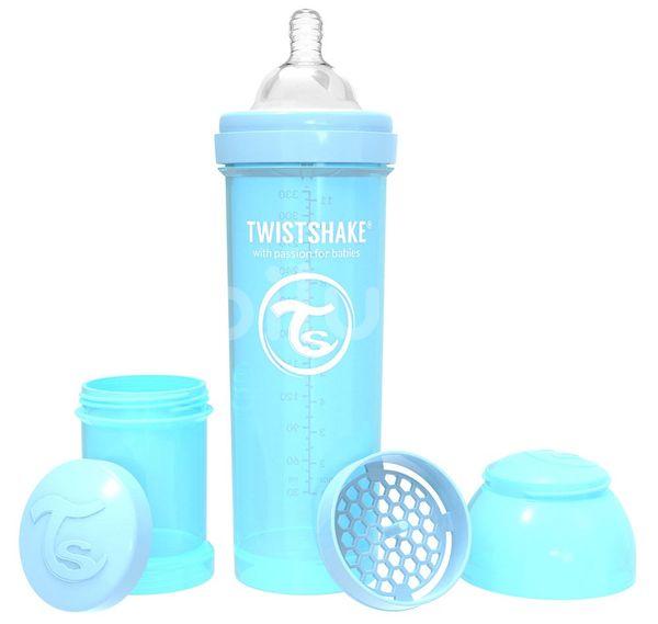 Twistshake Kojenecká láhev Anti-Colic (dudl.L) Pastelově modrá 330ml