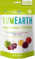 YumEarth Bio Ovocné lízátka kyselé 85g