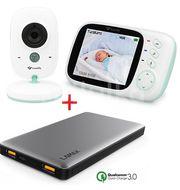 TrueLife NannyCam H32 video chůvička + LAMAX 10000 mAh Quick Charge záložní zdroj