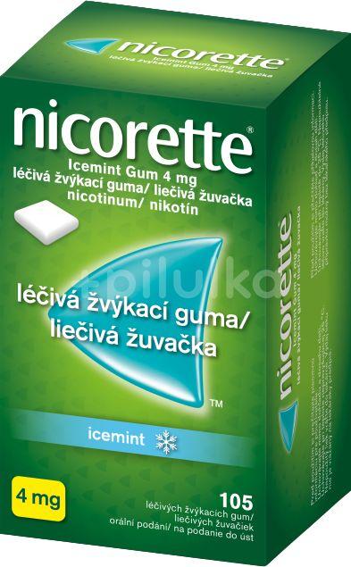 Nicorette Icemint Gum 4mg léčivá žvýkací guma 105ks