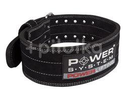 Power System opasek na posilování POWERLIFTING BLACK vel.XXL