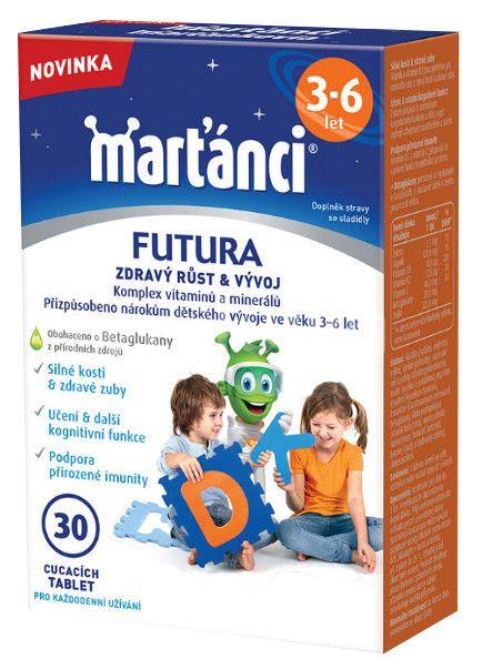 Walmark Marťánci Futura 3-6 let 30 cucacích tablet